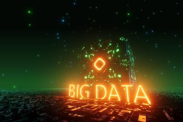 Palavras verdes big data storage em nuvem