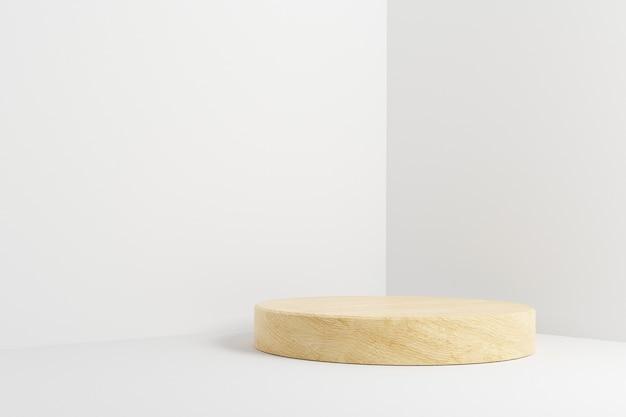 Palco de pódio de cilindro de madeira