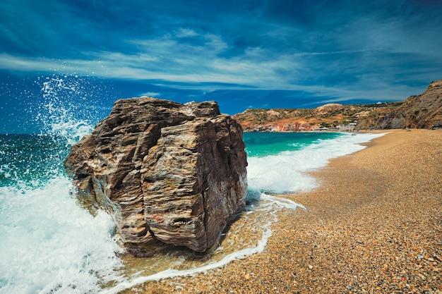 Paleochori beach milos island cyclades grécia