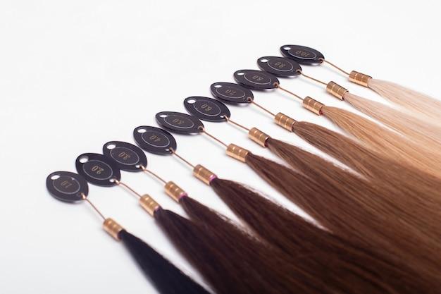 Paleta de cores da base do cabelo de morena a loira