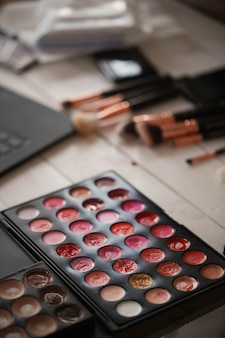 Paleta de cores de maquiagem