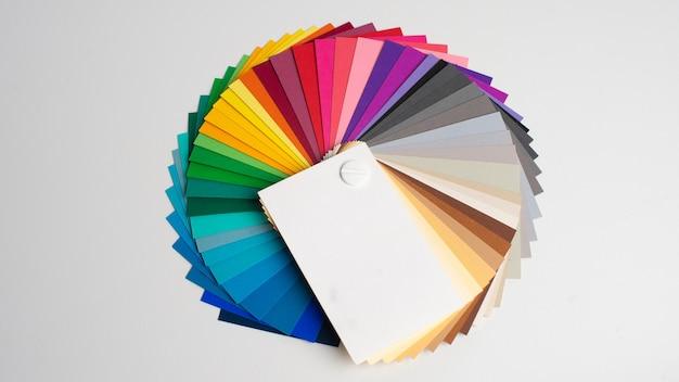 Paleta de cores, guia de amostras de tintas, catálogo de cores