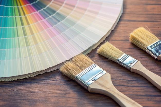 Paleta de cores, guia do catálogo de amostras de tinta