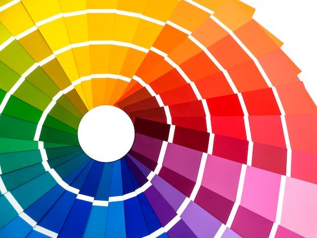 Paleta de cores, um guia para amostras para determinar a cor, um guia para amostras de pintura, um catálogo de cores