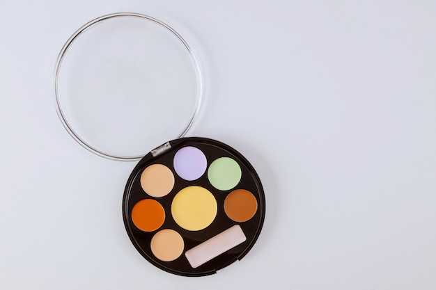 Paleta de sombras para maquiagem artista sombras sombras closeup de produto de maquiagem
