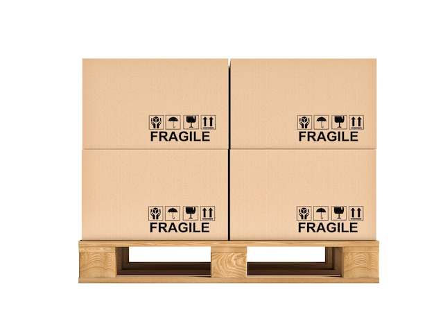 Paletes e caixas