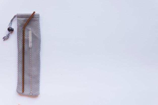Palha de aço inoxidável para reutilizável