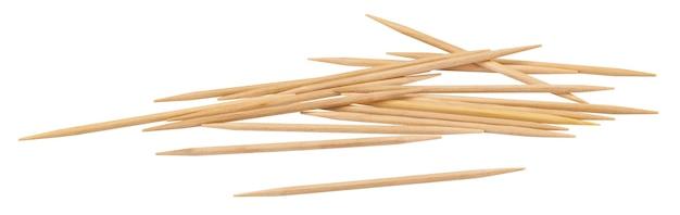 Palitos de dente de madeira isolados