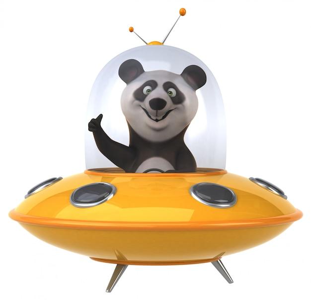 Panda divertido