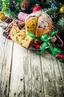 Panetone de natal tradicional
