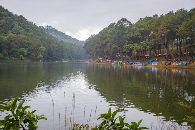 Pang oung lago na província de mae hong sorn tailândia