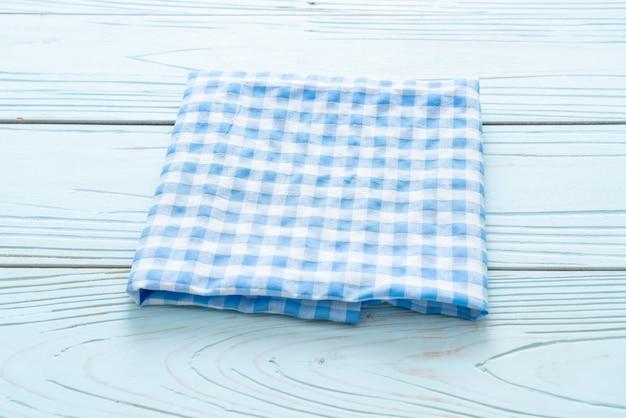 Pano de cozinha (guardanapo) em madeira azul