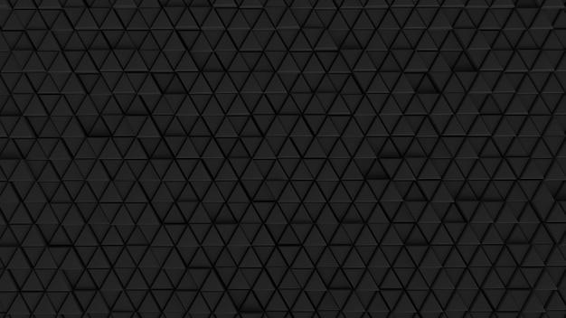Pano de fundo abstrato células de parede de fundo cor clara preto - escuro, gráficos futuristas hexágono, matriz de rede moderna padrão de tecnologia triângulo papel de parede de parede ilustração 3d