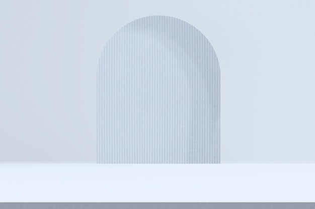 Pano de fundo azul do produto com espaço de design