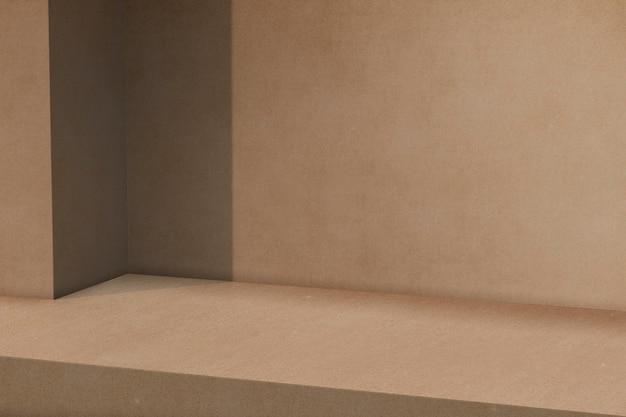 Pano de fundo de produto marrom com espaço em branco