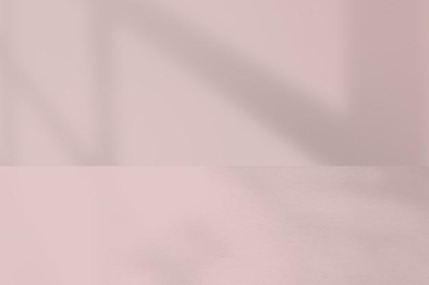 Pano de fundo de produto rosa com sombra
