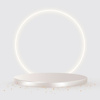 Pano de fundo de produtos 3d de luxo em prata