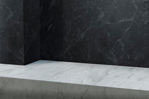 Pano de fundo do produto em mármore com espaço em branco