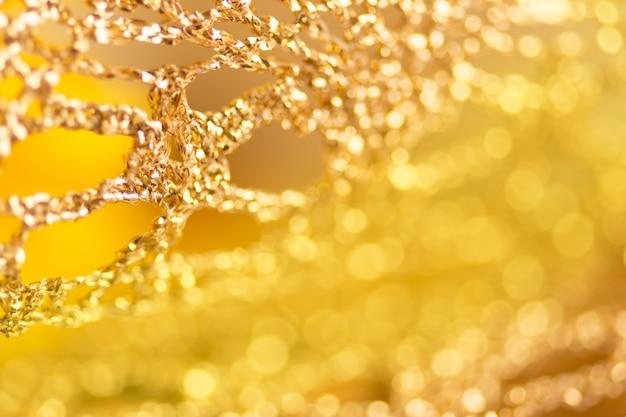 Pano de tecido de renda de ouro