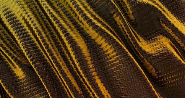 Pano dourado luxuoso de fundo abstrato, seda ondulada de ouro ou tecido de cetim, pano dourado