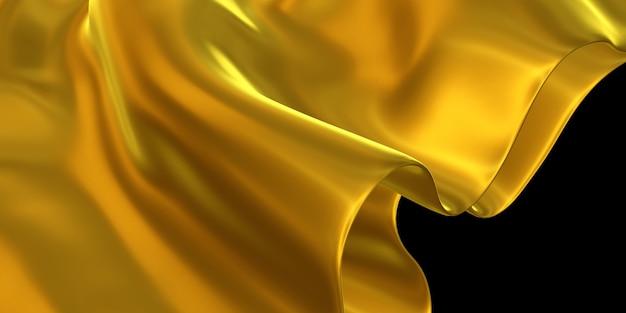 Pano ornamentado dourado, folha de ouro amassado superfície de ouro fundo abstrato ilustração 3d