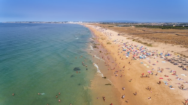 Panorama da antena de albufeira na região do algarve, portugal, europa, gale