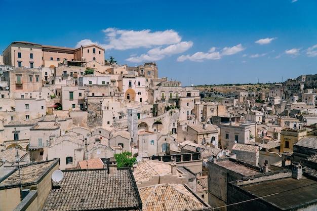 Panorama da antiga cidade de matera itália
