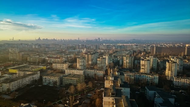 Panorama da cidade de galati na romênia