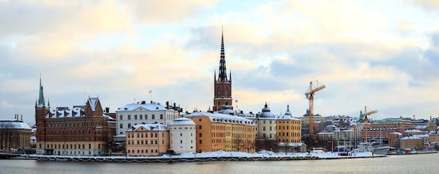 Panorama da paisagem urbana de srockholm suécia