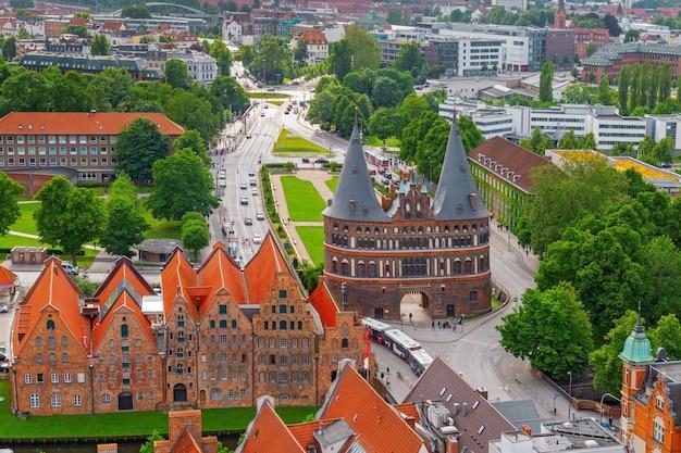 Panorama da pequena cidade alemã