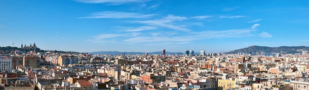Panorama de barcelona, espanha