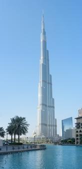 Panorama de dubai burj khalifa, emirados árabes unidos