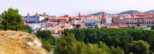 Panorama de teruel. aragão, espanha