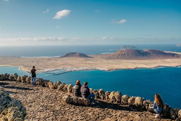 Panorama do arquipélago chinijo, vista do mirante de lanzarote