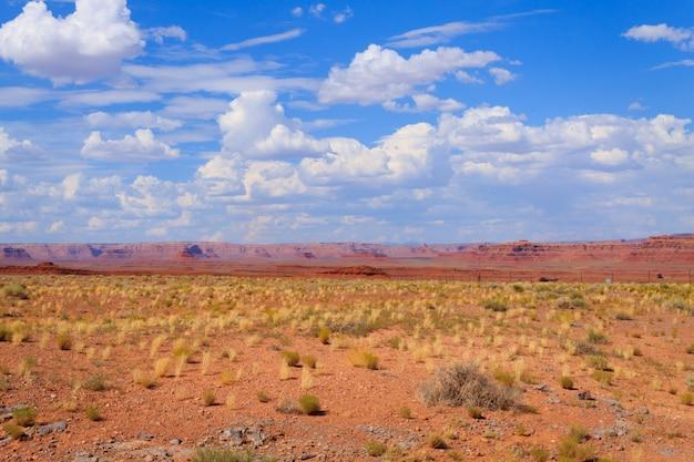 Panorama do deserto do arizona