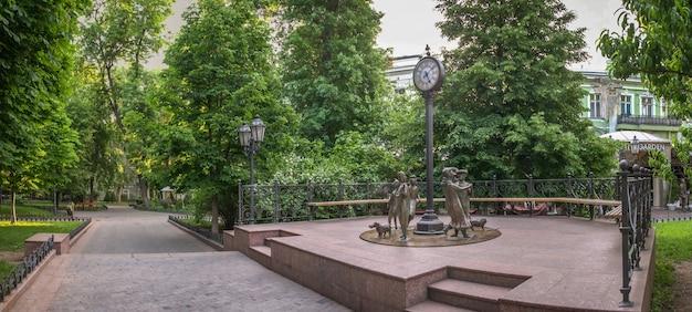 Panorama do jardim da cidade de odessa, ucrânia