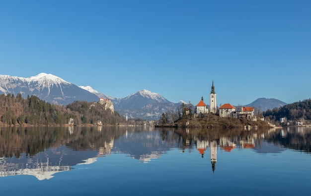 Panorama do lago bled