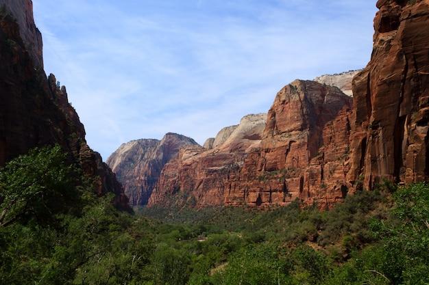 Panorama do parque nacional de zion, utah, eua.