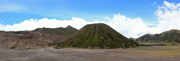 Panorama do vulcão bromo indonésia
