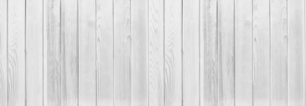 Panorama fundo de textura de madeira branca, paredes do interior para design.