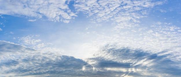 Panorama natureza do céu nublado