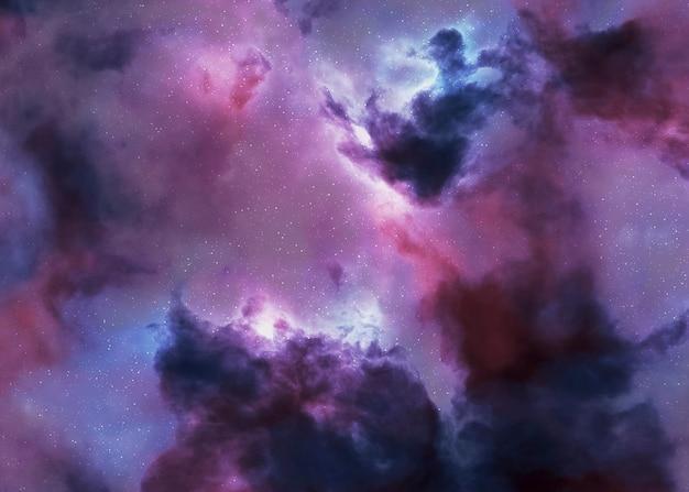 Panorama noturno da galáxia