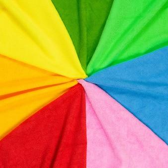 Panos de pó de micro fibra colorida vista superior