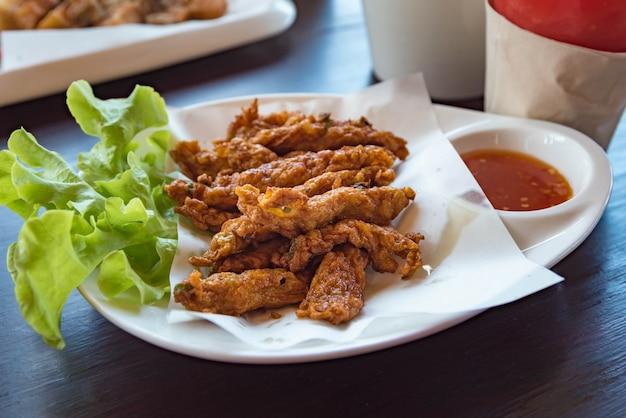 Panqueca de camarão frito