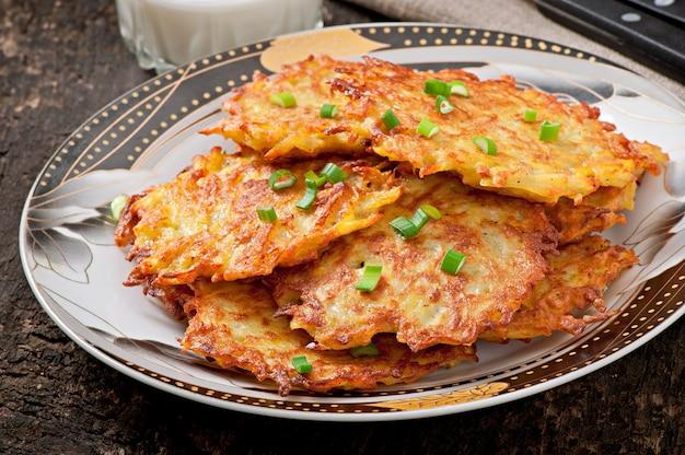 Panquecas de batata frita