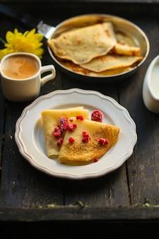 Panquecas deliciosas no café da manhã