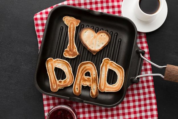 Panquecas do dia dos pais café da manhã