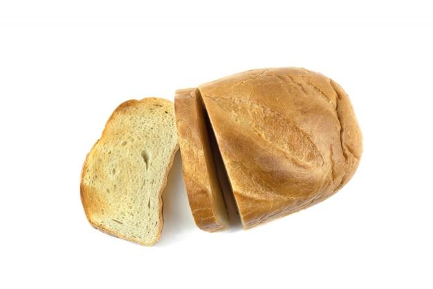 Pão branco, cortado em pedaços e assado na torradeira.