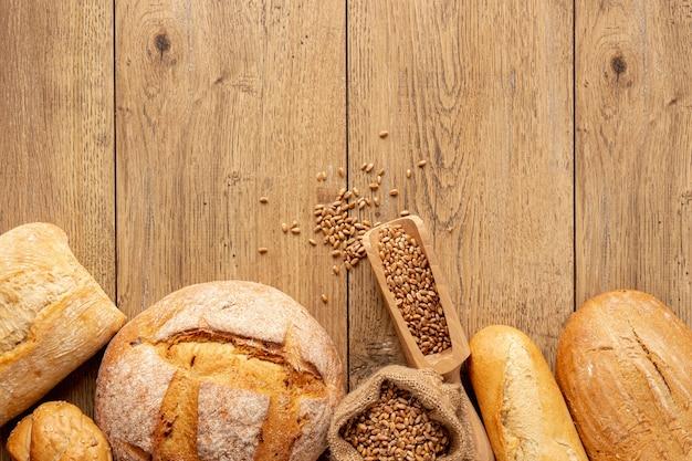 Pão caseiro gostoso com sementes
