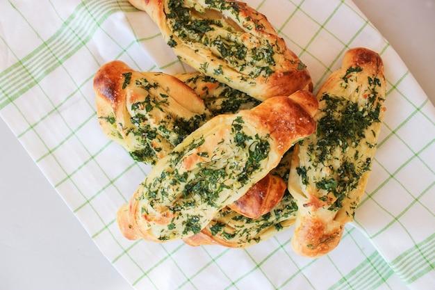 Pão de alho crocante com ervas